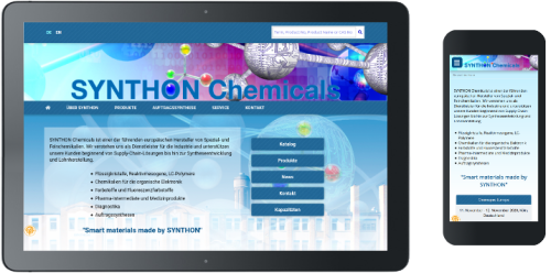 Referenz Homepageerstellung SYNTHON  Chemicals