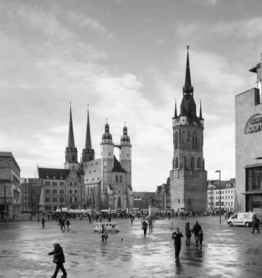 Halle Saale Marktplatz © Anne-Barbara Bernhard