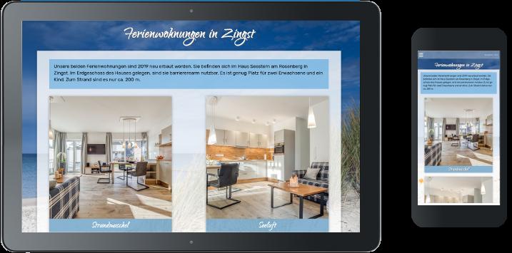 Homepageerstellung Ferienwohnung an der Ostsee