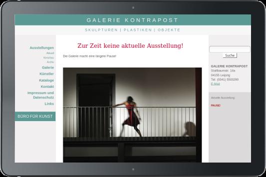 Webdesign Galerie Kontrapost