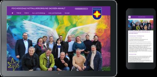 Website-Erstellung Psycbosoziale Notfallversorgung Sachsen-Anhalt
