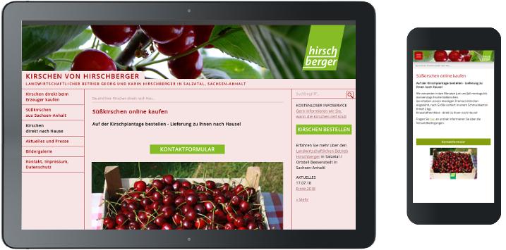 Webdesign-Umsetzung Kirschen Hirschberger