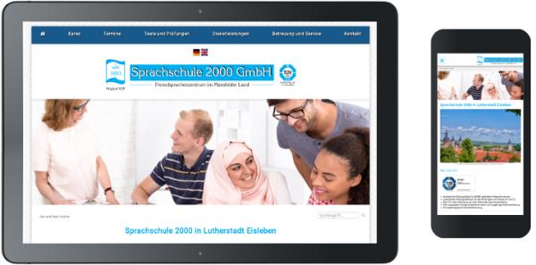 Webdesign für Sprachschule in Eisleben
