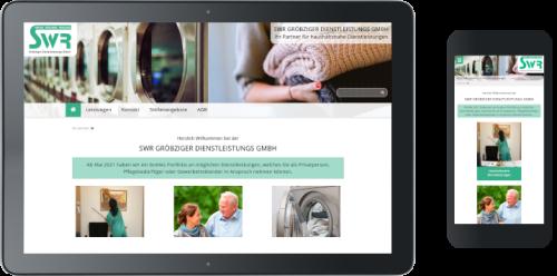 Homepage der SWR Gröbziger Dienstleistungs GmbH ©