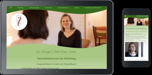 Webdesign für Heilpraktikerin ©