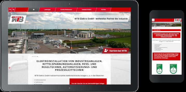 Homepage der WTB Elektro GmbH