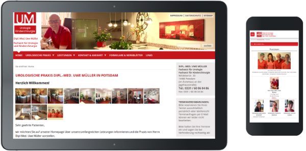 Webdesign für Urologe in Potdam