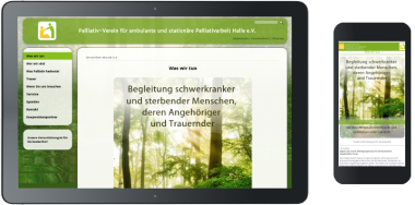 Webdesign Palliativverein Halle