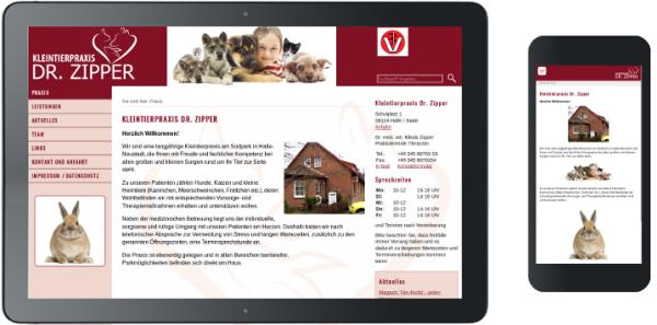 Webdesign Tierarztpraxis in Halle Responsive Design