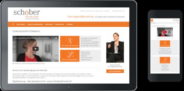 Homepage-Erstellung Schober-Training