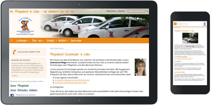 REsponsive Design Pflegedienst Koschmieder