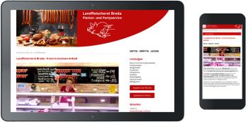 Webdesign Landfleischerei Broda