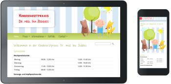 Webdesign Kinderarztpraxis Zeddies