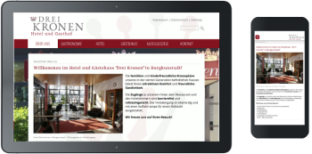 Webdesign Hotel 3 Kronen