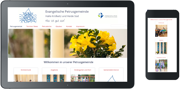 Webdesign Petrusgemeinde