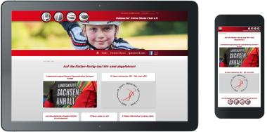 Webdesign Hallescher ISC (Hallescher Inline Skate Club) e.V.