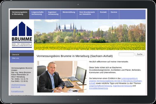 Webdesign Vermessung Henry Brumme