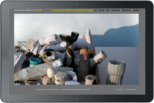 Webdesign Susanne Weise Keramik