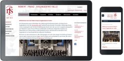 Webdesign Singakademie Halle