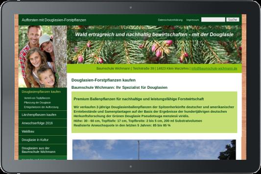 Webdesign Baumschule Wichmann