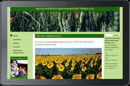 Webdesign Agrarproduktion Peißen